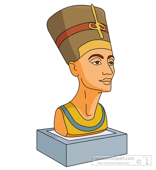 Statue nefertiti ancient egyptian art » Clipart Station.