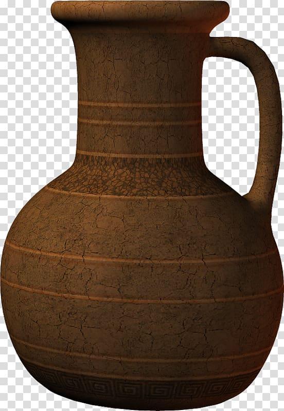 Brown jug art, Ancient Egypt Cerxe1mica egipcia Pottery Jug.
