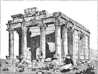 Ruins of Ancient City of Gerasa in Jerash, Jordan. Ancient.