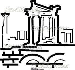 ancient structures Vector Clip art.