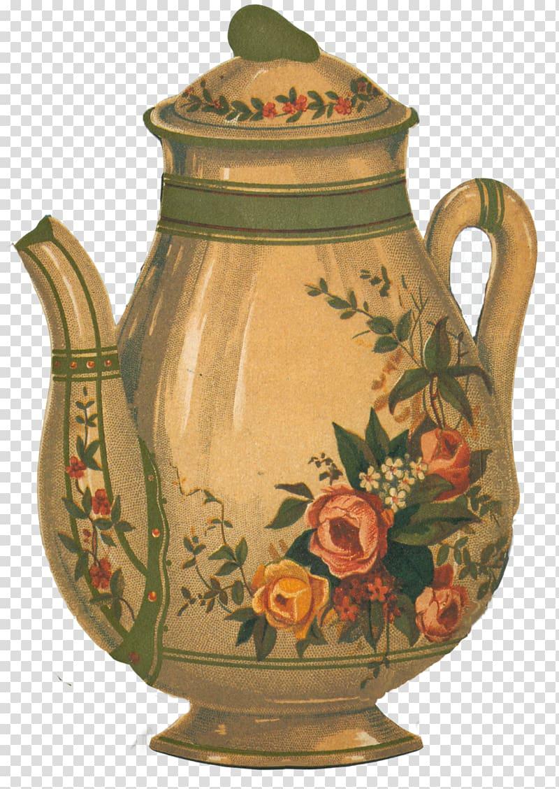 Teapot Victorian era , teapot transparent background PNG.
