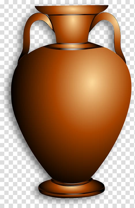 Vase Pottery of ancient Greece , kettle transparent.