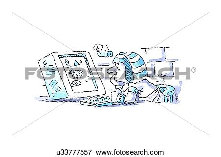 Stock Illustration of Ancient technology, conceptual artwork.