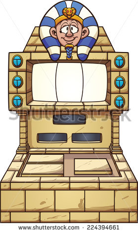 Ancient Egypt Themed Slot Machine. Vector Clip Art Illustration.
