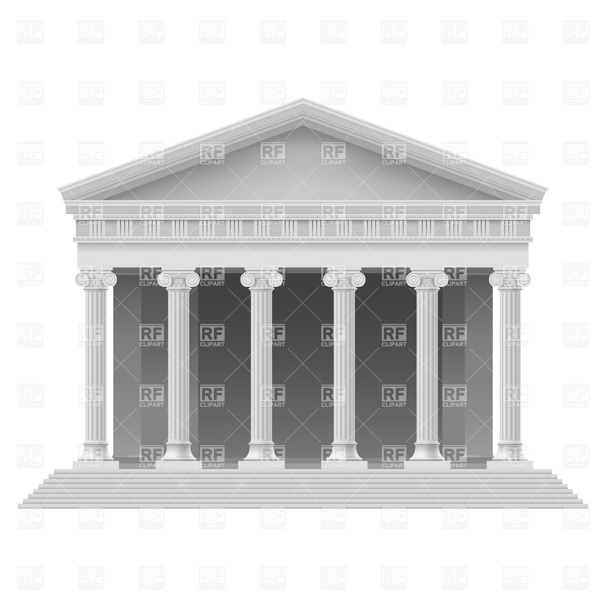 Old temple clipart #10