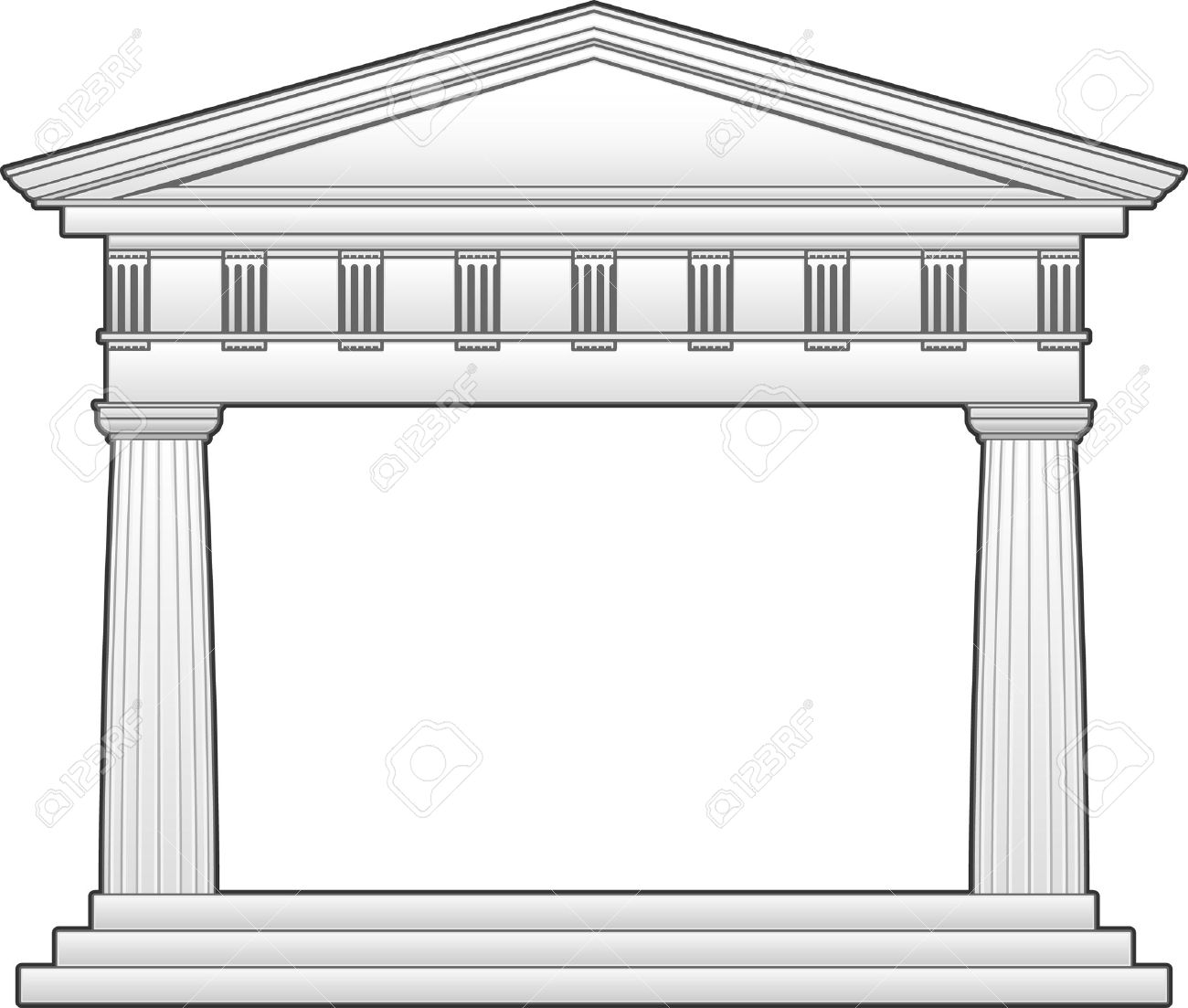 Greek temple clipart free.