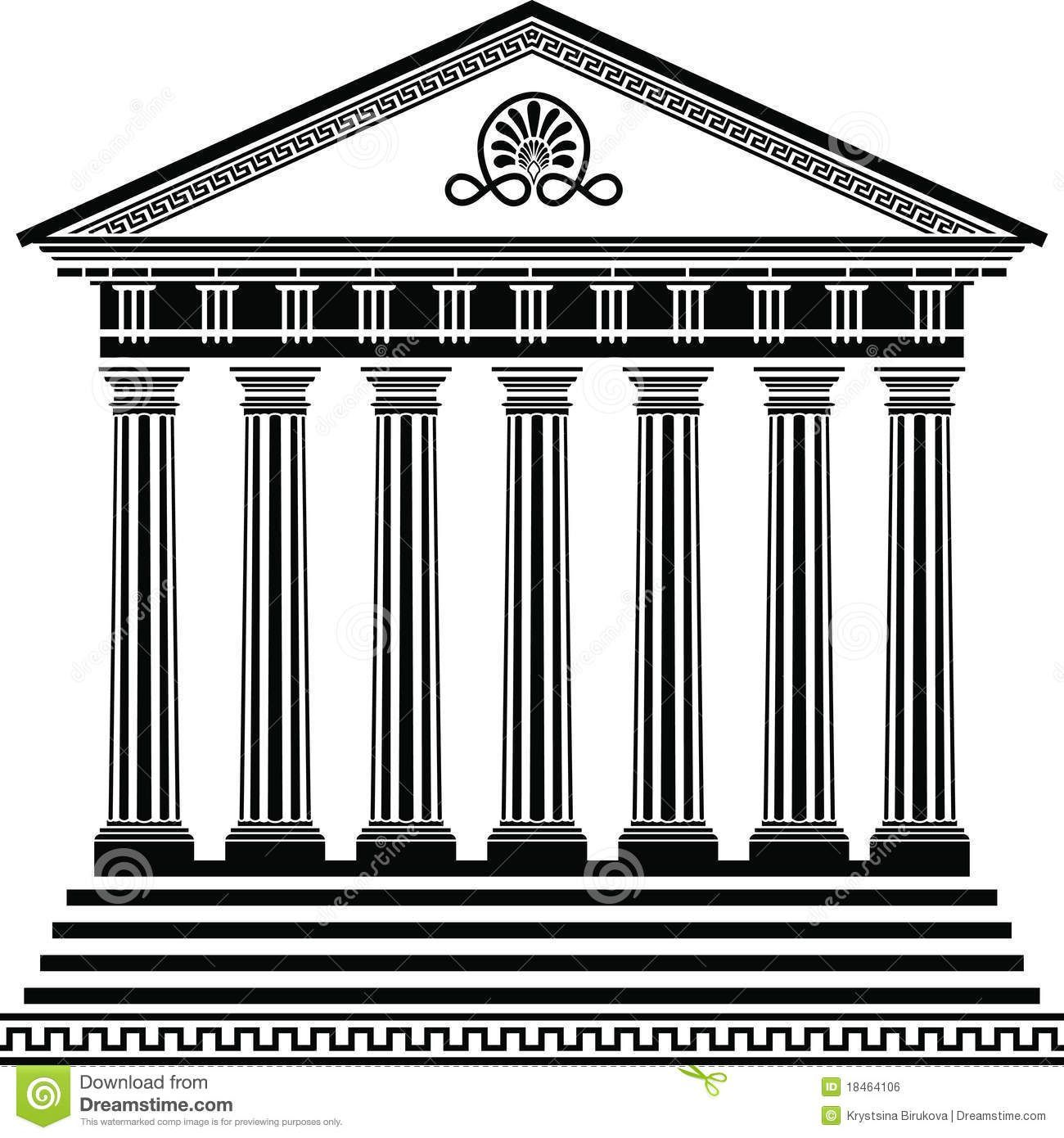 Temple clipart greek building #1.