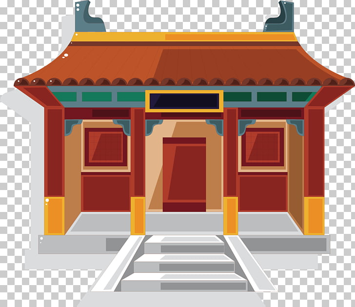 Chinese temple Chinese pagoda , Ancient temple PNG clipart.