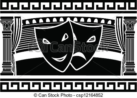 Clipart Vector of ancient greek theatre csp12164852.