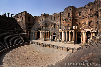 Ancient Greek Theatre Stock Images.