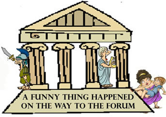 Ancient Greek Theatre Cartoon.
