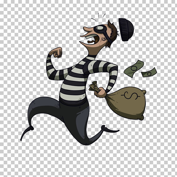Theft Robbery Cartoon, thief PNG clipart.
