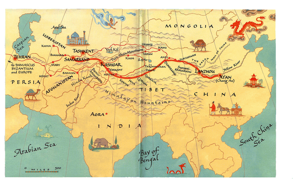 The Silk Road Clipart.