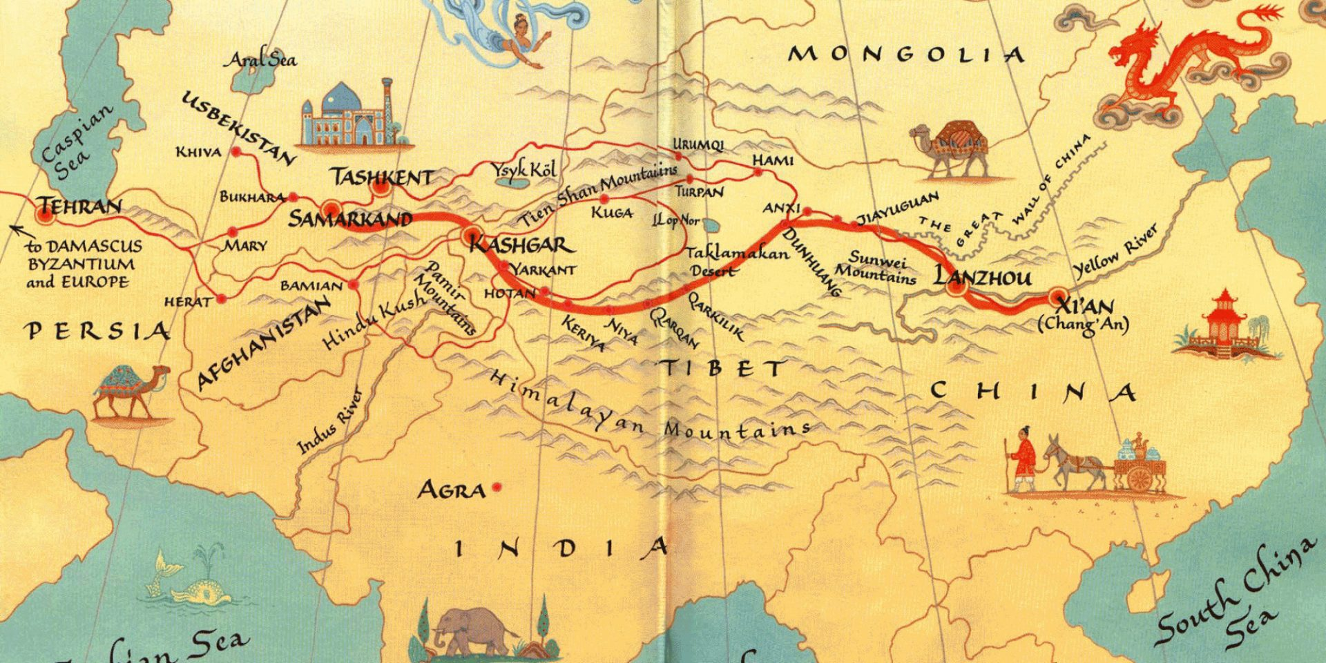 China\'s Belt & Road resume ancient trade routes as New Silk.