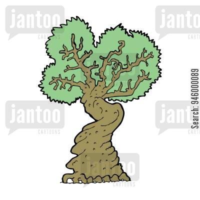 ancient trees cartoons.