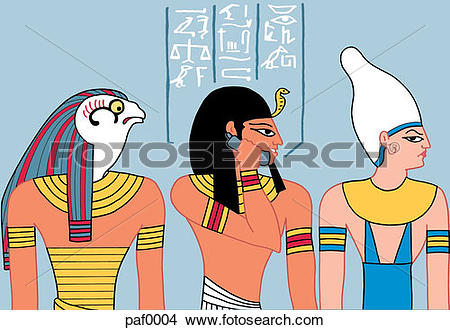 Drawings of ancient egyptian on phone paf0004.