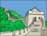 Clipart great wall of china.