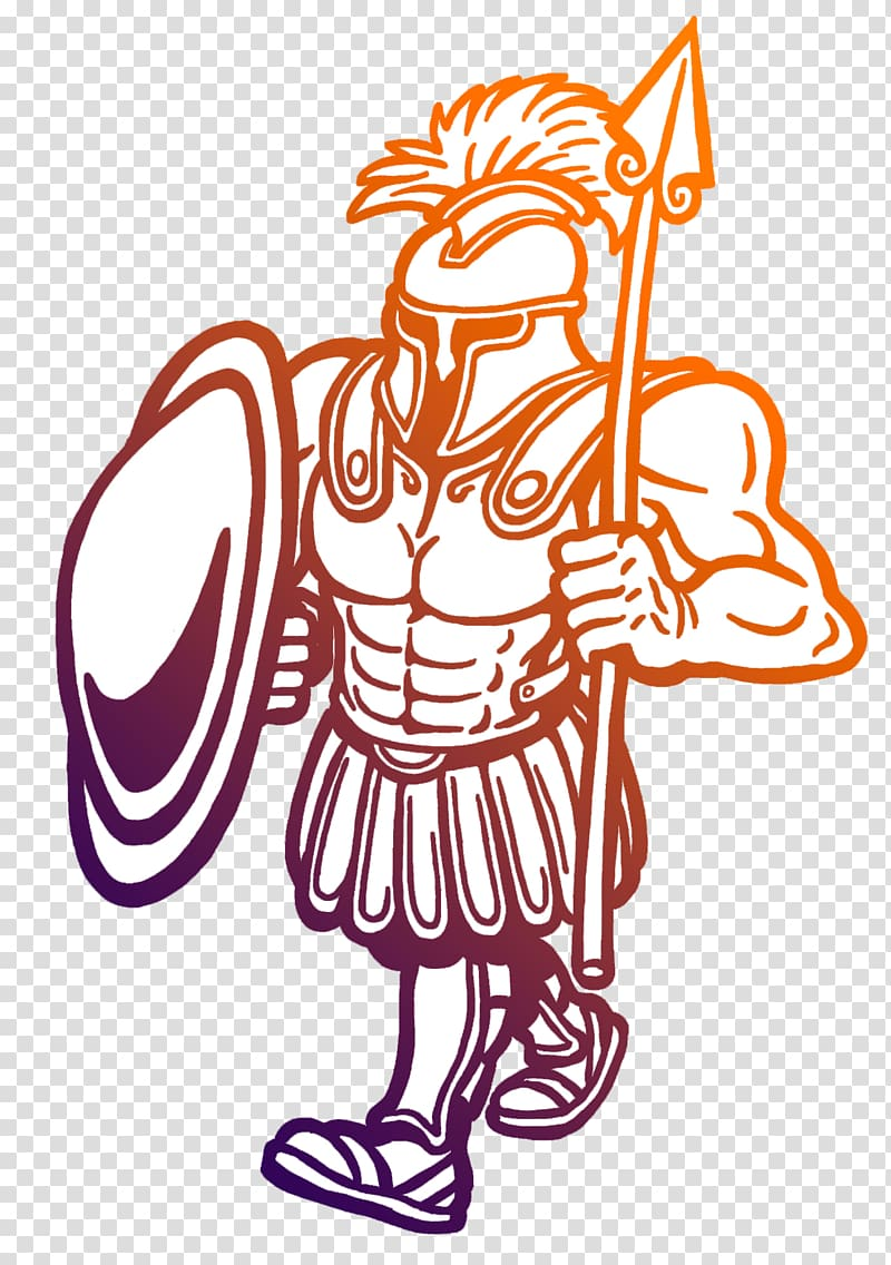 Trojan War Troy Drawing , ancient equipment Gladiator.