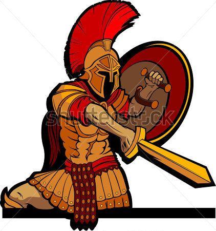 Greek Warrior Clipart.