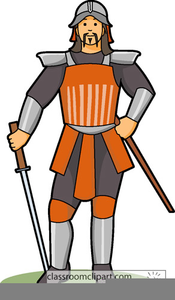 Ancient Chinese Warrior Clipart.