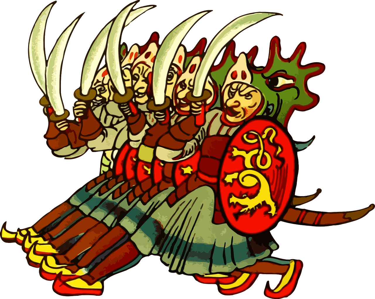 Ancient warriors clipart. Free download..