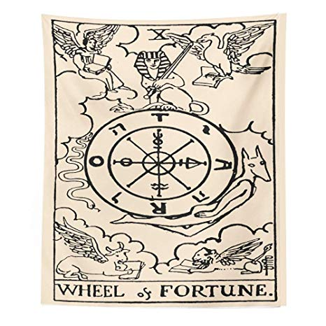 Amazon.com: Tapestry Wall Hanging,Astrology Tarot The Wheel.