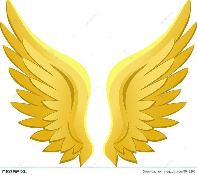 Golden Angel Wings/eps.