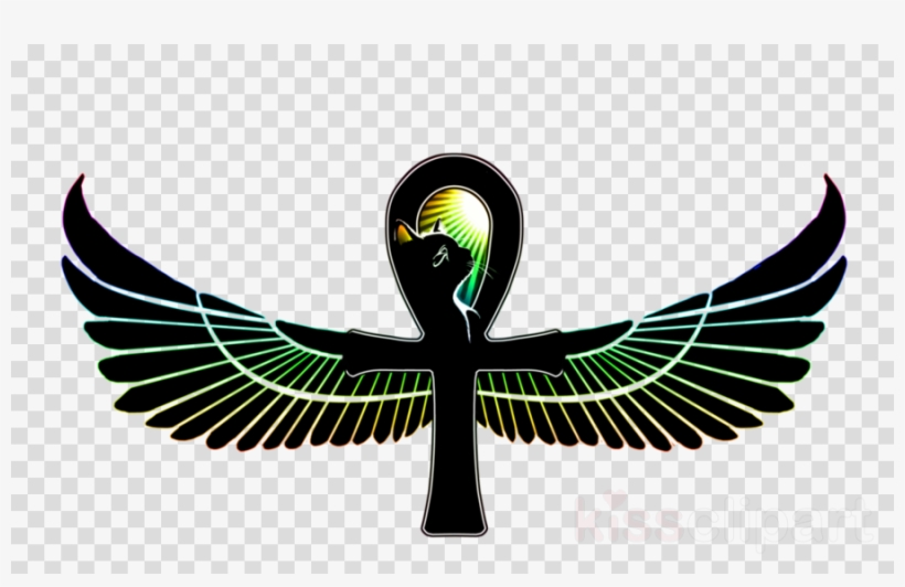 Ankh With Wings Tattoo Clipart Ancient Egyptian Religion.