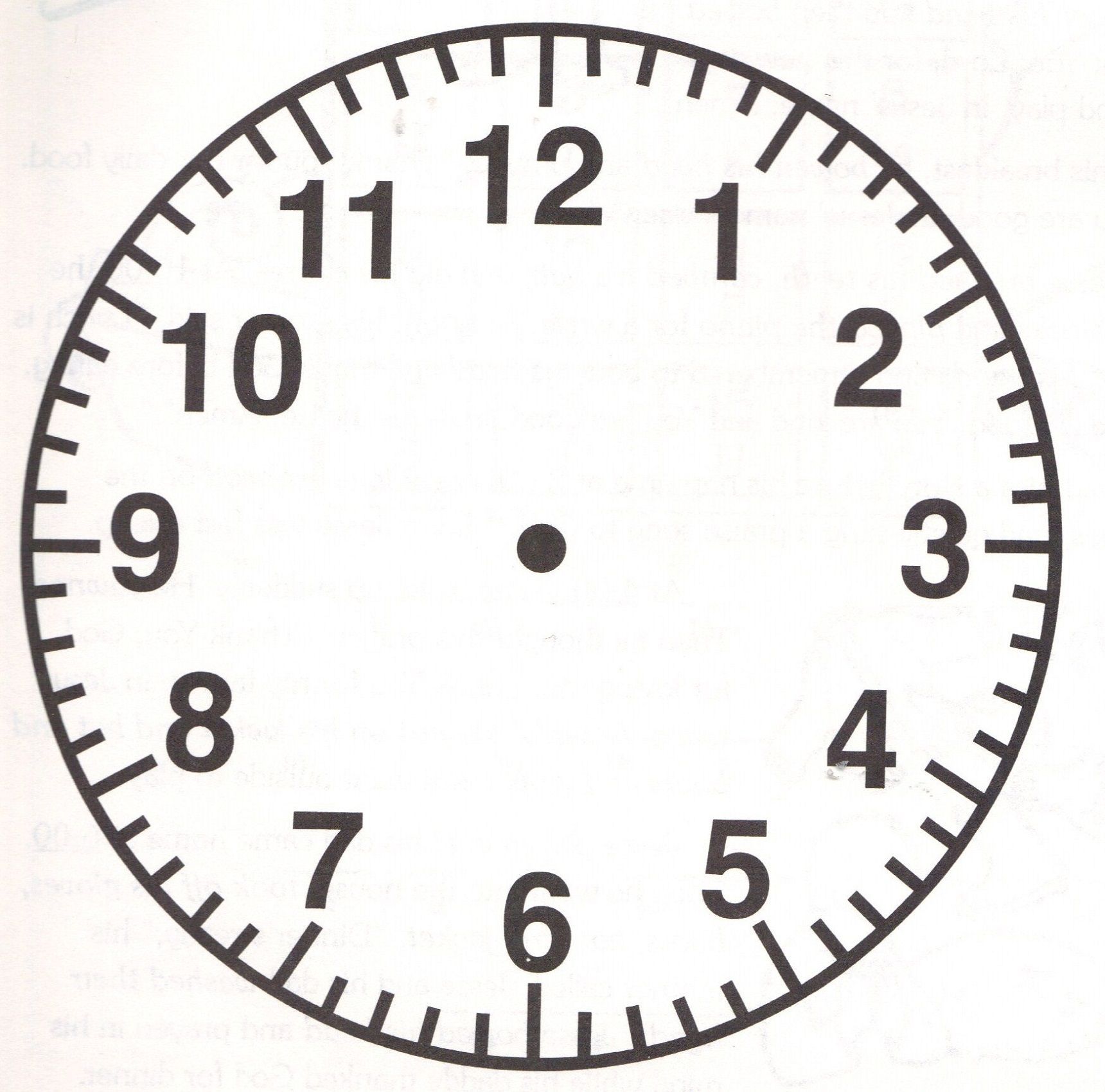Free Clock Faces Printable.