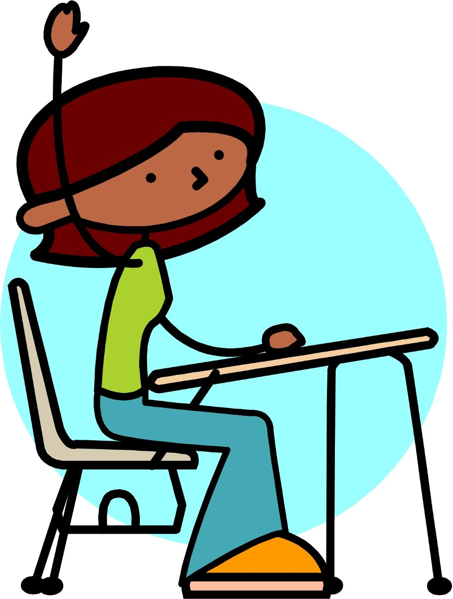 Person sitting in seat clipart school.