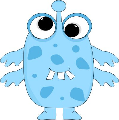 free cute monster clip art.