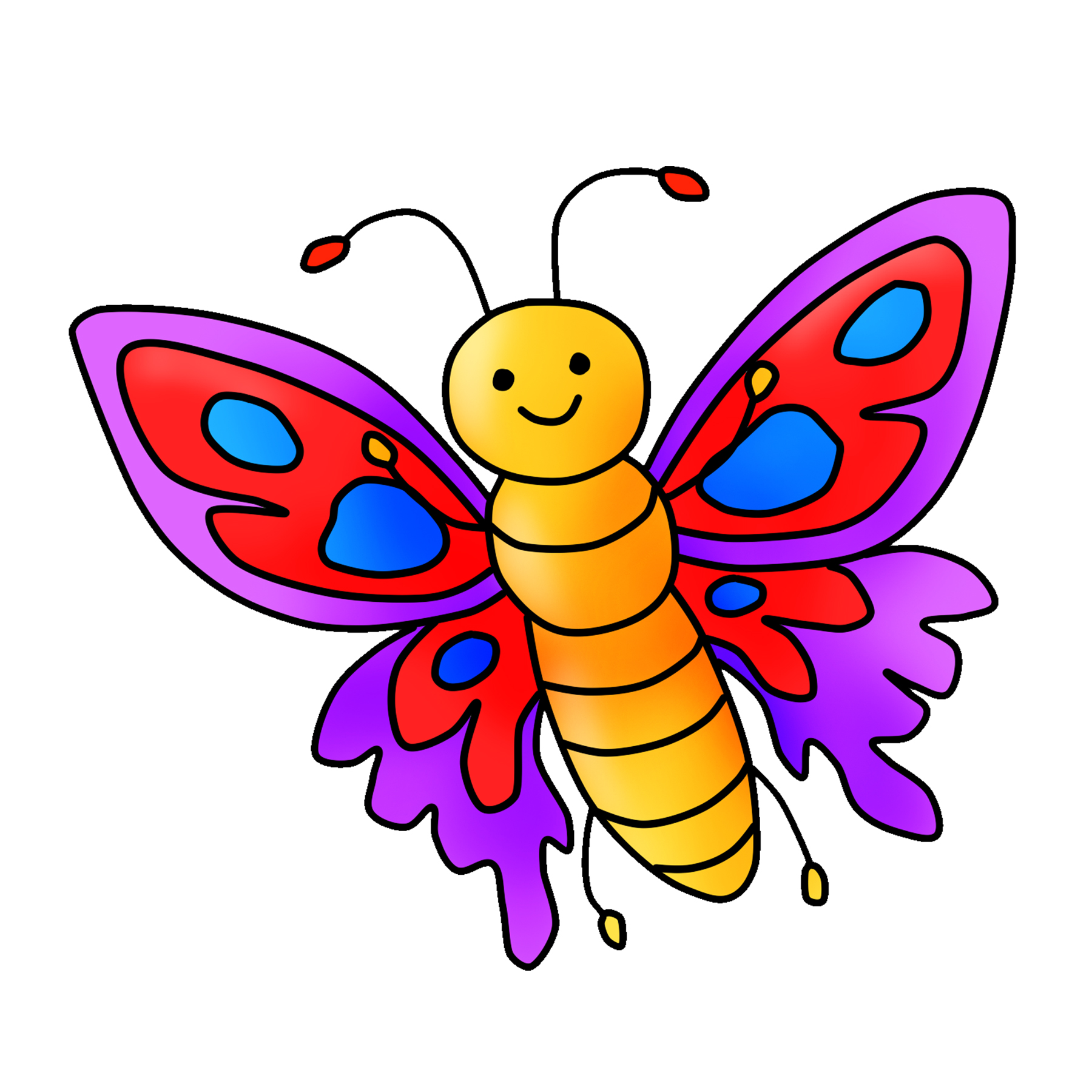 Free Butterfly Clipart Digital Graphic Download.