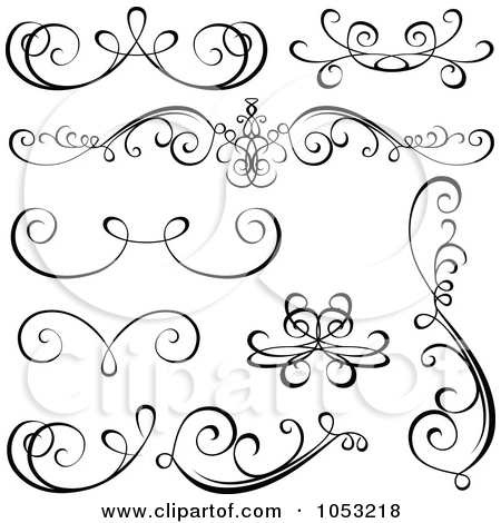 Clipart Black Swirl Scribbles And Design Elements.