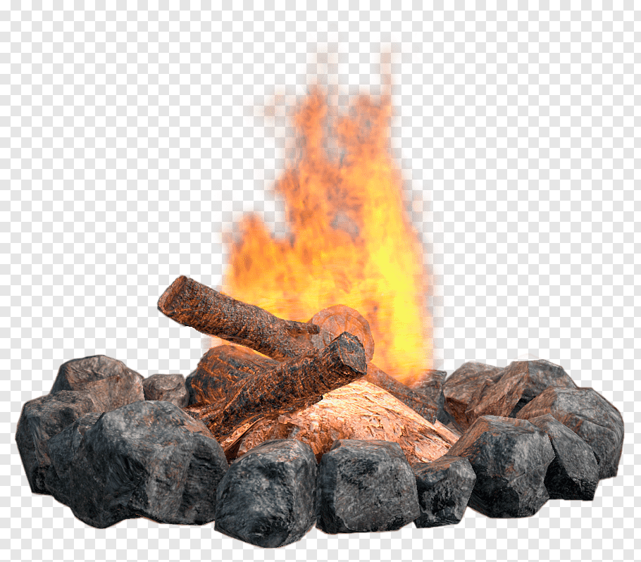 Gray rocks surrounding bonfire, Fireplace Fire pit Campfire.
