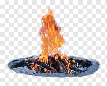 Gray rocks surrounding bonfire, Fireplace Fire pit Campfire.