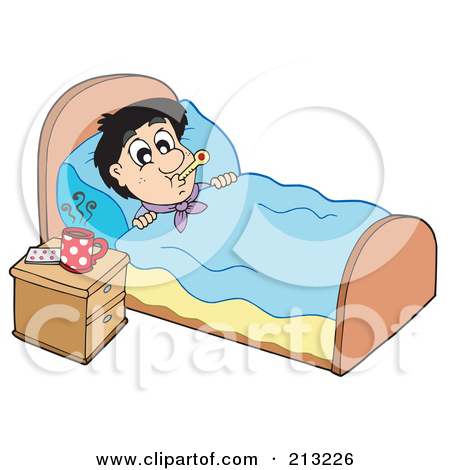 Bed rest clipart.