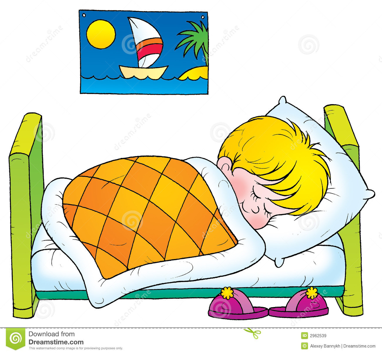 Kids rest time clipart.