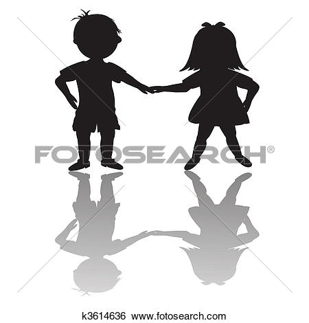 Stock Illustration of Black Kids 2 k3468508.