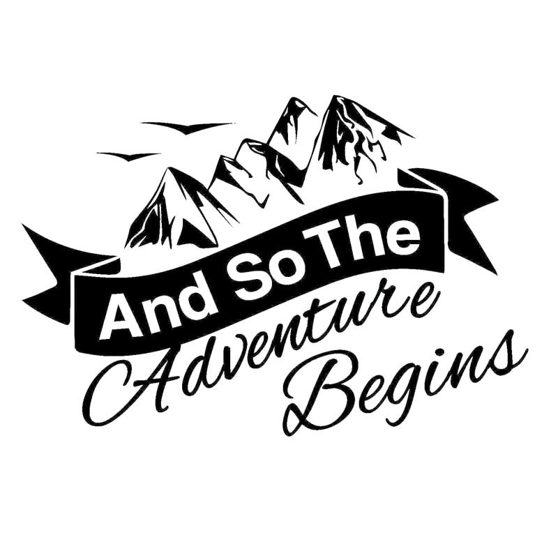 And So The Adventure Begins Decal.
