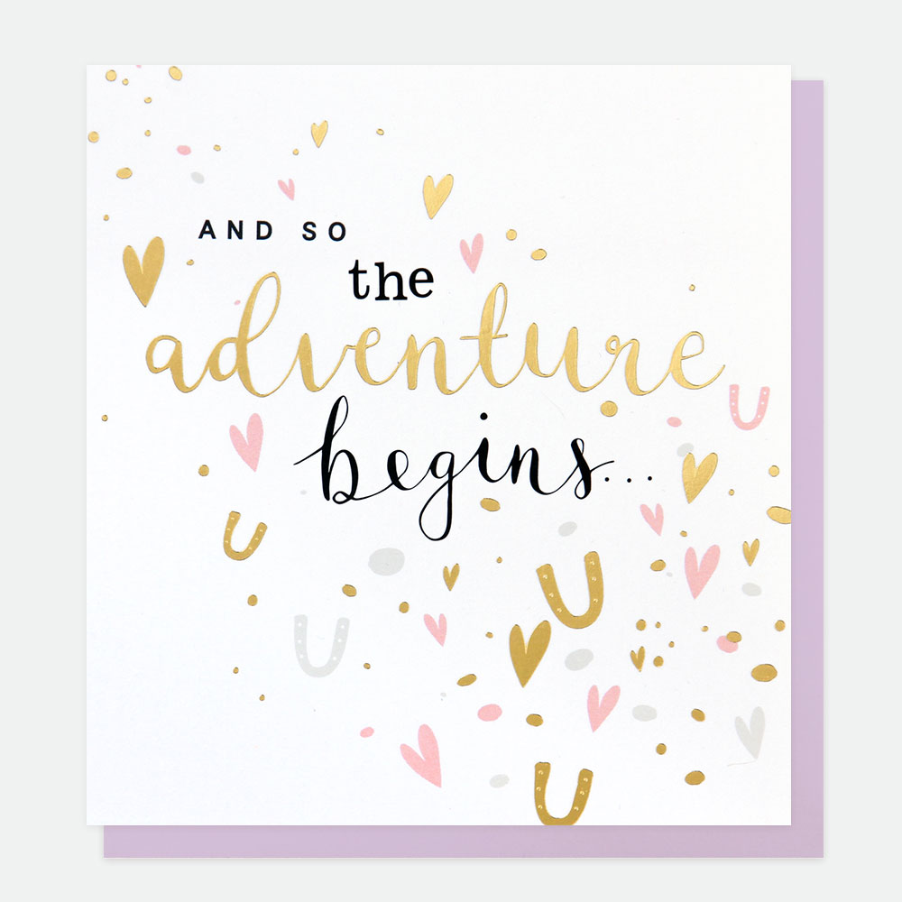 And So The Adventure Begins Card.