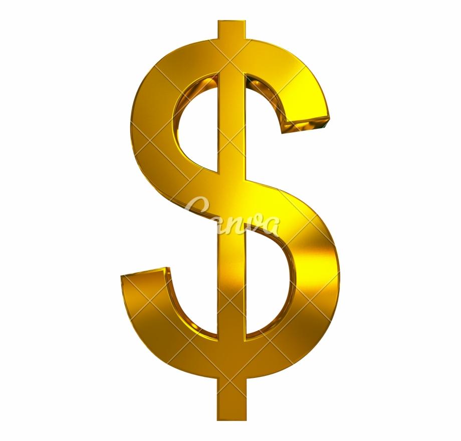 Golden Dollar Sign Transparent Image.