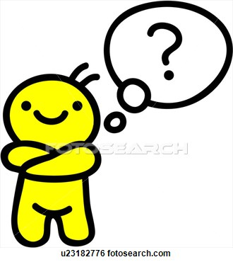 Questions and thoughts clipart.