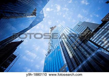 Stock Photography of The under construction luxury tower One57.