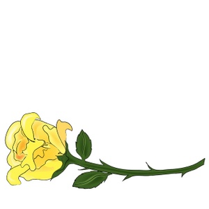 Free clip art yellow rose.