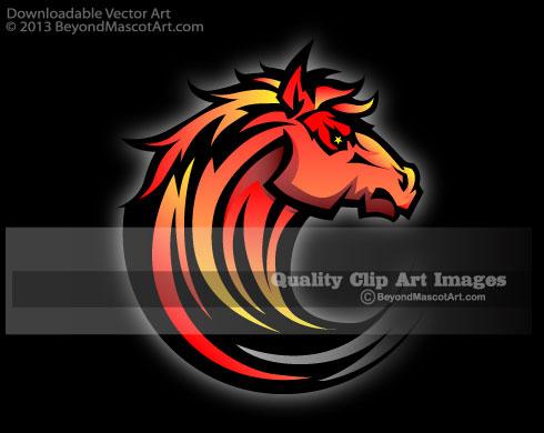 Mascot Clip Art, Sports Clip Art, Team Mascot Art.
