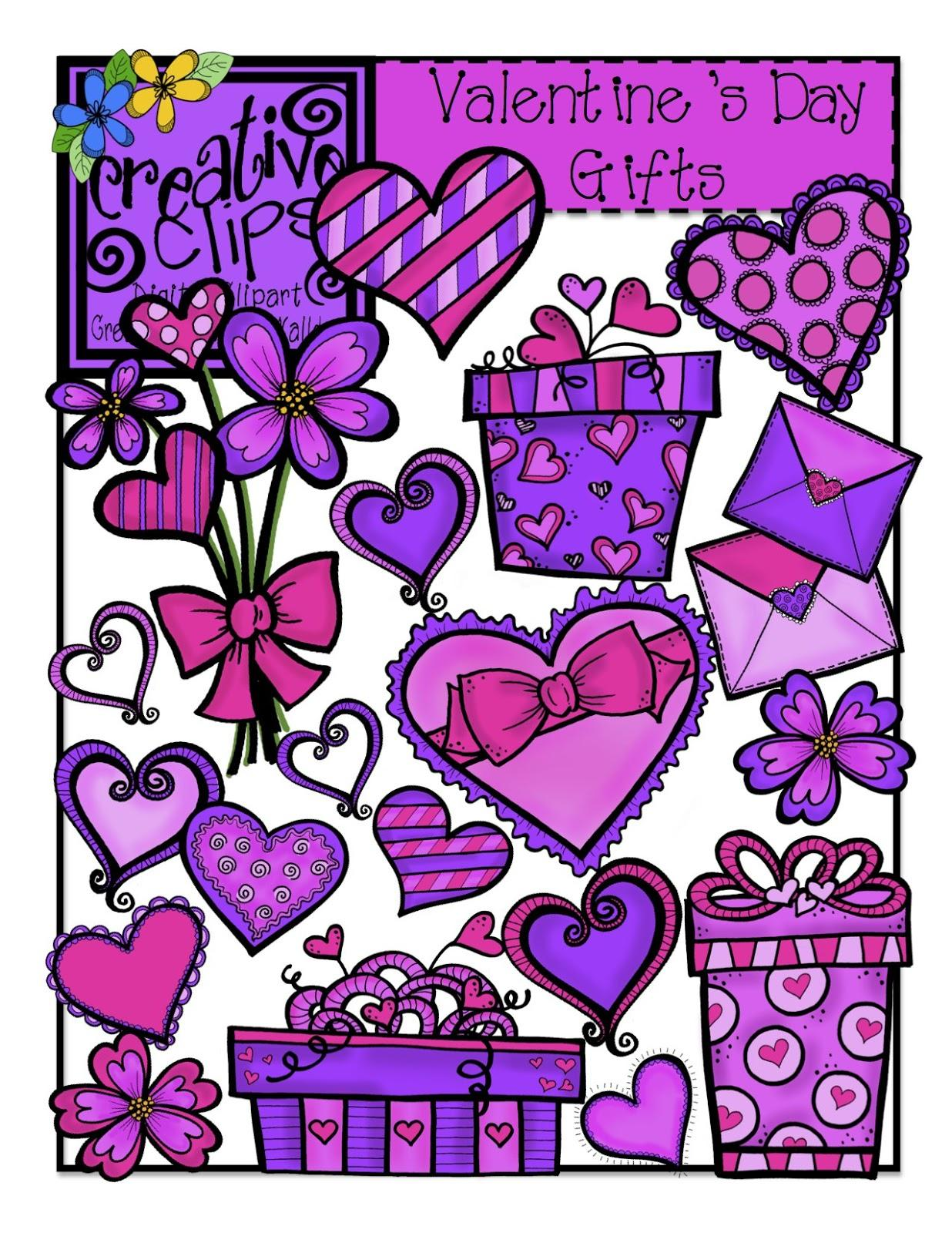 The Creative Chalkboard Valentine Clipart Sale 2 00 And 1 00 Sets.