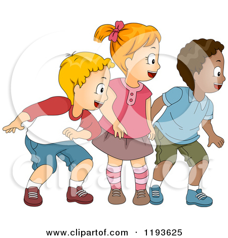 2 Girls And Boy Clipart.