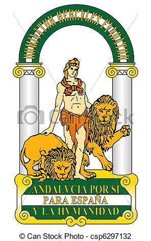 Clip Art of Spanish Andalusia coat of arms.