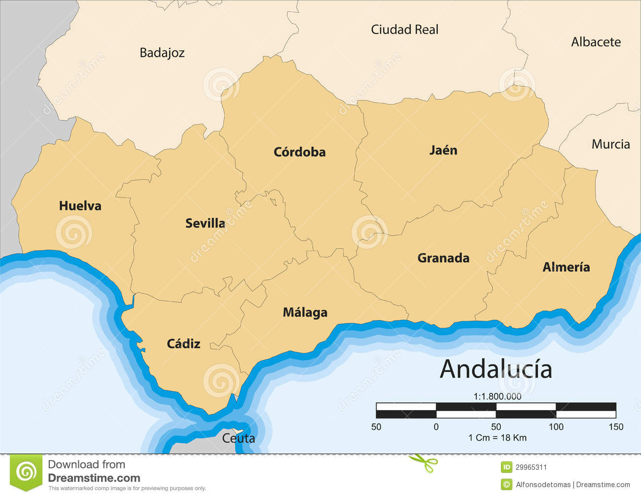 Andalusia Stock Illustrations.
