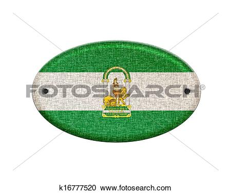 Stock Illustrations of Wooden Andalusia flag. k16777520.